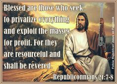 Red state Jesus. Opposite of the Real Jesus