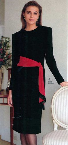 womens Fashion 1990s | Women's Dress from a 1990 catalog #1990s #fashion #vintage