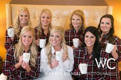 flannel shirts bridesmaids - Google Search Laurel, I think it looks better for pictures when the shirts match