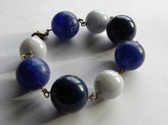 Vintage Lucite Blues Bracelet. www.allsey.etsy.com