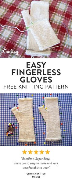 Fall is coming sooner than you might think. Knit up these seamless fingerless gloves and keep your hands toasty in colder weather. Get the free beginner knitting pattern and video tutorial at Craftsy!