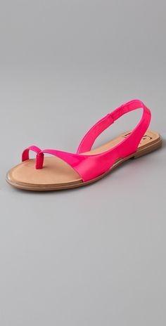 Diane von Furstenberg Kaiti Thong Flat Sandals - StyleSays