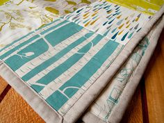 finishished quilt by birds & trees, via Flickr