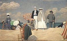 René-Xavier Prinet (1861-1946)  The Beach in Cabourg  1910  Oil on canvas