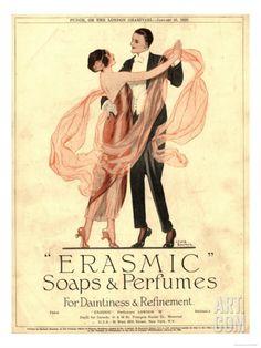 Erasmic Soap Perfume, Evening-Dress Dancing, UK, 1920 Art Print at Art.com