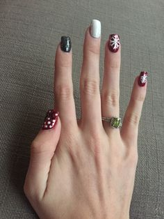 Christmas nails!! #snowflakes #joy