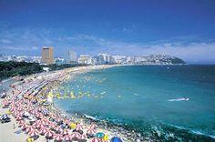 beach at Busan, Korea