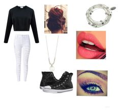 """""""Untitled #22"""" by punkrockandbands ❤ liked on Polyvore featuring beauty, Fiebiger, Converse, Majique and Belpearl"""