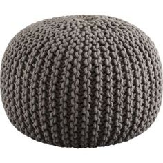 $89.95 knitted pouf