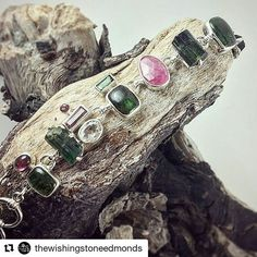 WEBSTA @ wishingstoneseatac - #Repost @thewishingstoneedmonds with @repostapp・・・Tourmaline is one of October's birthstones 💗💚 This asymmetrical toggle bracelet features a bright combination of rough crystal, cabochons, and faceted stones, making it unique and versatile. Tourmaline is said to provide stamina, creativity, and joy! ..#tourmaline #virgo #libra #october #crystals #gems #pinktourmaline #greentourmaline #topaz #stones #rocks #minerals #jewelry #jewels #sparkle #hippie #beautiful…