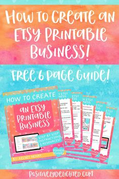 Have you ever wanted to create digital products that sell while you sleep? Then, an Etsy printable business is for you! Etsy Business, Craft Business, Online Business, Starting A Business, Business Planning, Business Tips, Business Resume, Make Money From Home, How To Make Money