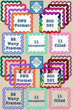 Wavy Dot Frames! $ #frames #clipart #digitalframes #TPT #teacherspayteachers #education #aperfectlypoeticpage