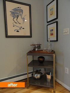 Before & After: A Sad Little Bar Cart Gets Beautified | Apartment Therapy