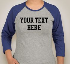 Ladies Raglan T-shirts  Create your own Design by ForeverPazCustomT on Etsy