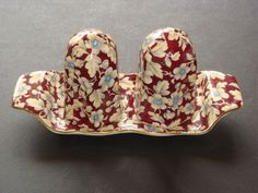 Royal Winton ROYAL BROCADE 3 Piece Salt and Pepper Tray Set  I have this piece in my collection