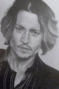 Custom portraits done in graphite pencil of any animal or person of your choice. Price-$50.00  Sample drawing is of Johnny Depp. :)