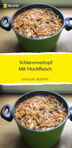 Schlemmertopf with minced meat-Schlemmertopf Mit Hackfleisch Schlemmertopf with minced meat - Creamy White Chicken Chili, Crockpot White Chicken Chili, Meat Recipes, Healthy Recipes, Carne Picada, Food Lists, Quick Meals, Healthy Drinks, Pots