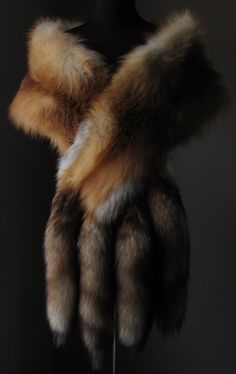 Stay luxuriously warm..…..….Blaze & Lawrence Luxury Furs....https://www.etsy.com/shop/AutumnandYosVintage?ref=hdr_shop_menu….…. Ultimate Luxury Gift Or Wedding Bridal Formal Black Tie Accessory/ Stunning Red Fox Fur Stole With Tails/ Vintage Wrap Cape Shrug Fling Boa