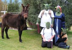 Homemade and Easiest Shrek Family Group Costume... This website is the Pinterest of costumes