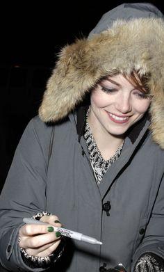Emma Stone outside Studio 54 in NYC Nov 18th 2014