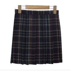 a66dd3630 XS-3XL Harajuku 2017 Women Fashion Summer high waist pleated skirt Wind  Cosplay plaid skirt kawaii Female Skirts