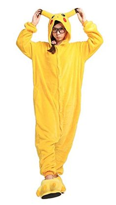 9fox Jumpsuit Tier Karton Fasching Halloween Kostüm Sleepsuit Cosplay Fleece-Overall Pyjama Schlafanzug Erwachsene Unisex Lounge Nachtwäsche S/M/L/XL (L, Pikachu) LATH.PIN http://www.amazon.de/dp/B00Q6736FM/ref=cm_sw_r_pi_dp_TLlVvb1SAMB96