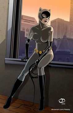 Catwoman (animated series costume, 'natch) leaving for the night. Created for Project Rooftop's Fan-Art Friday: Catwoman! Catwoman Comic, Dc Batgirl, Catwoman Cosplay, Batman And Catwoman, Batman Art, Superman, Batman Robin, Dc Comics, Comics Anime