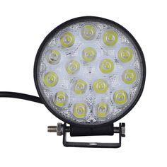 2Pcs GERUITE 48W LED Spotlight Round Car Lights For Truck SUV Boating Hunting Fishing IP67 Waterproof Work Light LED Spot Lights