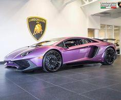 Pruple Lamborghini Aventador SV