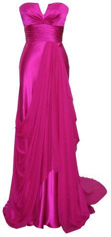 Fushia Strapless Gown by DINA BAR-EL @girlmeetsdress Pin to Win your dream dress from girlmeetsdress.com! #wingirlmeetsdress