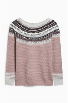 Buy Embellished Fairisle Patterned Sweater from the Next UK online shop