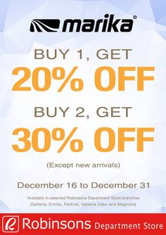0a19e33fefc5c Calling all sexy ladies! Check out MARIKA PROMO! Head over to Robinsons  Department Store