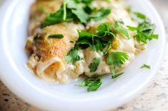 White Chicken Enchiladas ~ Pioneer Woman
