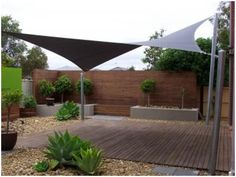Outdoor Sails For Patios - Shade Sails Buying Guide Backyard Shade Outdoor Shade Patio Shade Patio Shade Sails Patio Contemporary With Climbing Plants Deck Custom Made Shade Sai. Backyard Shade, Outdoor Shade, Patio Shade, Pergola Shade, Pergola Patio, Shade Garden, Backyard Patio, Backyard Landscaping, Pergola Kits