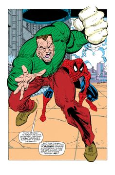 Spidey and Sandman Vs. The Sinister Six in The Amazing Spider-Man #338 - Erik Larsen & Mike Machlan