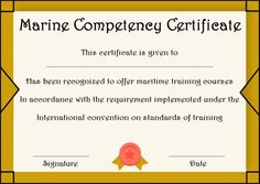 Certificate of Competency: 22 Templates in Word, Excel and PDF - Template Sumo Certificate Templates, Training Courses, Sumo, Pdf, Words, Horse