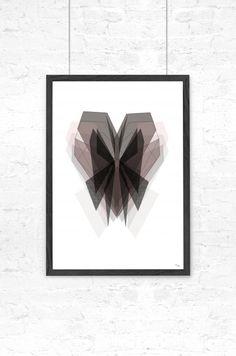 By Tinit – Grafisk illustration - Broken butterfly - Tinga Tango