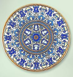 Decorative Plate 28 cms. Handmade in Sevilla. Isbiliya (Al-Ándalus). Enamels and 24K gold www.madeinandalusia.es