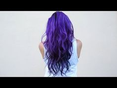 How I dye my hair purple & blue ♥ DIY - YouTube. I really want to dye my hair like this T-T.