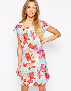 Pepe Jeans Janice Floral Print Tie Waist Dress