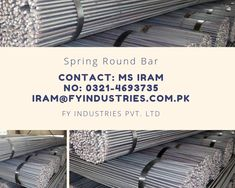 We at FY Industries Pvt. Ltd are offering high quality steel material. Our special products includes Spring Steel and various types of spring steel. Our manufacturing facility is in China. For further details and queries contact us @ +92 321 4693735 or email us iram@fyindustries.com.pk