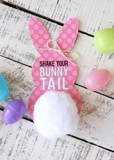 Adorable Free Printable Bunny Tail Tags - My Sister's Suitcase