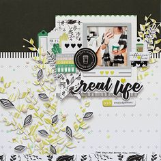"""@adriennealvis created a layout documenting her love for caffeine...such a help coffee is when you're having a """"blah"""" day! See The Case of the Blah's collection and more https://www.pinkfreshstudio.com/pages/a-case-of-the-blahs"""