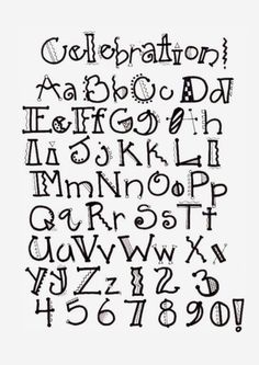 Not a link to the alphabet. Would love to find it. Image detail for -Creative Lettering Doodle Fonts, Doodle Lettering, Creative Lettering, Lettering Styles, Lettering Ideas, Creative Writing, Doodle Doodle, Lettering Tutorial, Hand Lettering Alphabet