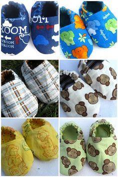 Patrón gratuito de zapatitos bebé reversibles (English)