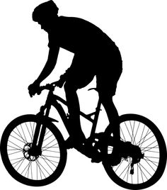 man riding mountain bike vector art illustration desain logo rh pinterest com mountain bike tire clip art clipart mountain bike