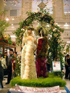 Persephone and Demeter, a perfectly fitting final display for Macy's Flower Show