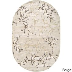 Hand-tufted Oval Area Rug
