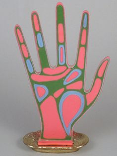 60's 70's Vintage Psychedelic Hand Mod Ring Display