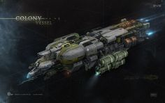 "ArtStation - Colony Ship for cinematic trailer ""EVE Universe: Origins"", Georg Hilmarsson"